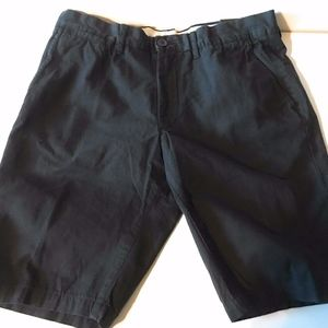 Nautica Clipper 100% Cotton Men's 35W Black Shorts